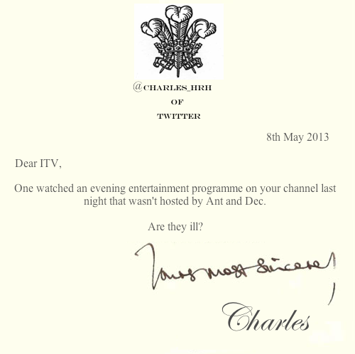 prince_charles_letters_ Ant and Dec