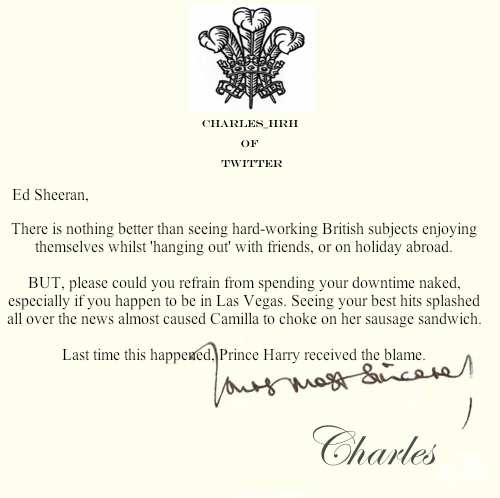 prince_charles_letters_ Ed Sheeran